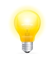 Light bulb isolated on white vector image vector image