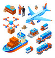 logistics delivery transport vector image vector image