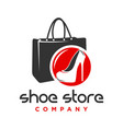 logo design shoes and womens handbag shop vector image vector image