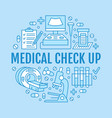 medical check up poster template flat line vector image vector image
