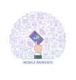 mobile payments concept vector image vector image