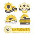 Natural sunflower oil logotypes set