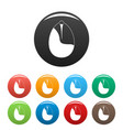 nut icons set color vector image vector image