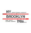 ny brooklyn typography design varsity vector image vector image