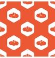 Orange hexagon cloud upload pattern vector image vector image
