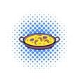 Paella icon in comics style vector image vector image