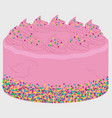 pink birthday cake image vector image vector image