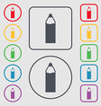 Plastic bottle with drink icon sign Symbols on the vector image vector image