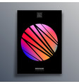 poster with abstract sun for flyer brochure vector image vector image