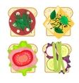 Sandwich set isolated vector image vector image