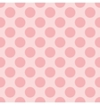 Seamless pastel pattern with baby pink polka dots vector image vector image