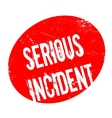 Serious Incident rubber stamp vector image vector image