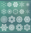 set beautiful ornamental snowflakes vector image vector image