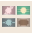 Set of retro cards vector image vector image