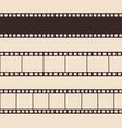 set vintage film strip vector image vector image