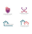 simple house home real estate logo icons vector image vector image