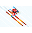 skier jumping winter sports vector image vector image