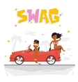 Swag boy and sexy girl vector image