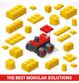 Toy Block Farm 02 Games Isometric vector image vector image