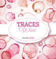 Traces wine background vector image vector image