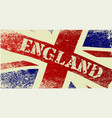 union jack england grunge vector image vector image