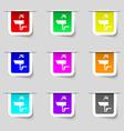 Washbasin icon sign Set of multicolored modern vector image