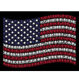 waving united states flag stylization of opium vector image vector image