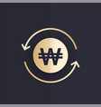won exchange icon korean currency vector image