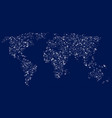 world map in the form of glittering stars vector image vector image