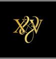 xv x v logo initial mark vector image