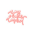 you are loved hand drawn lettering vector image vector image