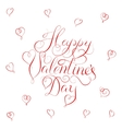 Happy Valentines Day - calligraphy vector image