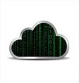 Binary cloud computing vector image