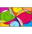 Colorful pattern vector image