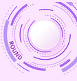abstract background with color circle line on pink vector image vector image