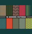 Abstract modern pattern of geometric colorful