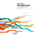 abstract technology background in circuit tech vector image