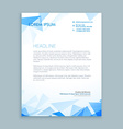 abstract triangle letterhead design vector image vector image