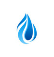 abstract water drop logo vector image
