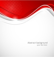 Abstract wavy background in red color vector image vector image