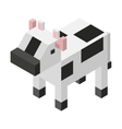animal isometric isolated icon vector image