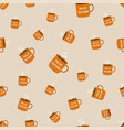 autumn pattern with cup vector image