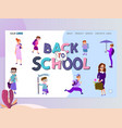 back to school home page template flat style vector image vector image