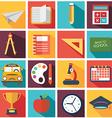 Back To School icon set vector image vector image