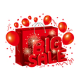 Big sale design with shopping bag on white backgro vector image vector image