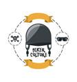 biker culture design vector image vector image