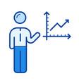 business development line icon vector image vector image