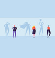 business people with winner shadow characters vector image vector image