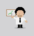 Businessman Presenting The Success Chart vector image vector image