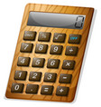 calculator with wooden frame vector image vector image